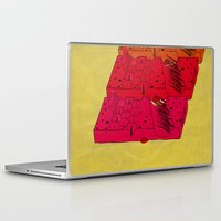 industrial Laptop & iPad Skins featuring INDUSTRIAL CHEESE by kasi minami