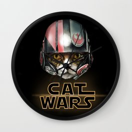 Cat Wars Dameron Wall Clock