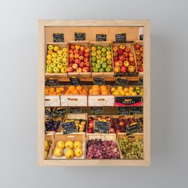 Groceries, Nice France Framed Mini Art Print