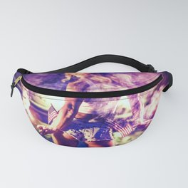 9366 Sexy Blonde Girl Fireworks Fanny Pack