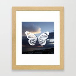 Butter wings Framed Art Print