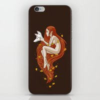 kitsune iPhone & iPod Skins featuring Kitsune by Freeminds
