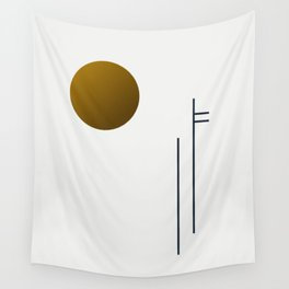Soir 05 // ABSTRACT GEOMETRY MINIMALIST ILLUSTRATION Wall Tapestry