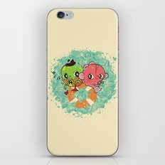 The Pond Lovers - Mr. Froggy and Ms Goldfish iPhone & iPod Skin
