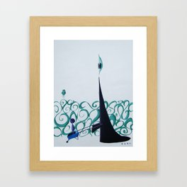 It would be Quicker to Walk into the Afterlife, but Tradition is Tradition.   Framed Art Print
