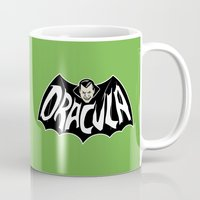 dracula Mugs featuring DRACULA! by Minerva Mopsy