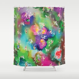 Wondering Kois Shower Curtain