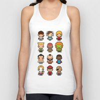 foo fighters Tank Tops featuring The Fighters by Papyroo
