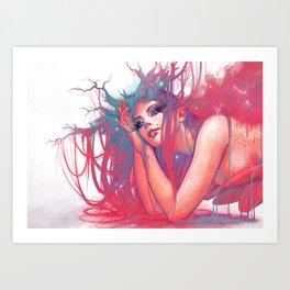 Marguerite nymphe Art Print