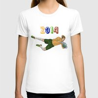 brazil T-shirts featuring Brazil 2014 by Lost Link Art
