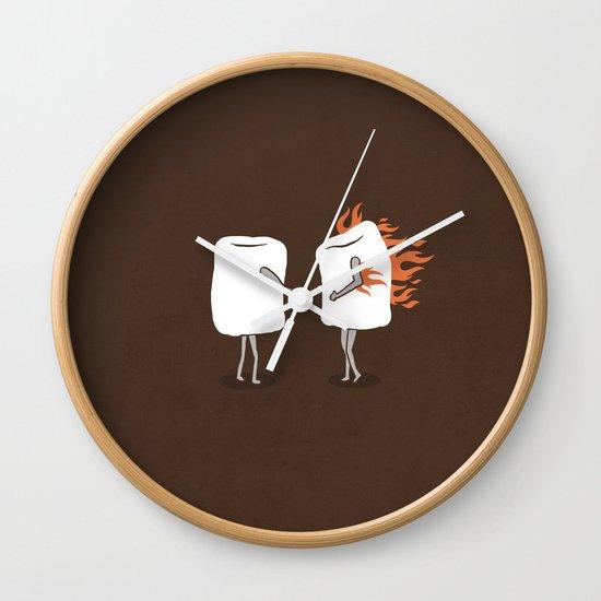 Mallow on Fire Wall Clock