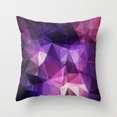 Stylish geometrical print with polygonal triangles Throw Pillow