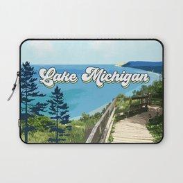 Lake Michigan Retro Laptop Sleeve