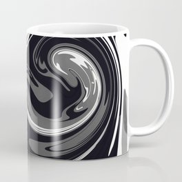 HURRICANE black white and grey swirl abstract design Coffee Mug