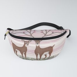 magnolia deer Fanny Pack