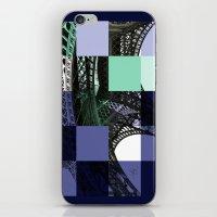 eiffel iPhone & iPod Skins featuring EIFFEL by Marcela Solana