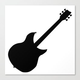 Electric Guitar Silhouette Canvas Print