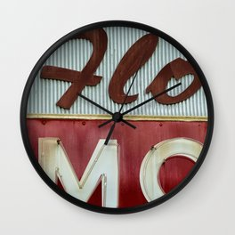 Flo Mo Wall Clock