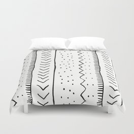 Moroccan Stripe in Cream and Black Duvet Cover