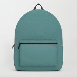 Desaturated Cyan - solid color Backpack
