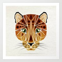 leopard Art Prints featuring leopard by Manoou