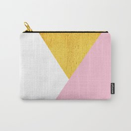 Gold & Pink Geometry Carry-All Pouch