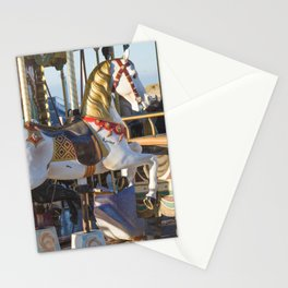 Wooden horse riding Stationery Cards