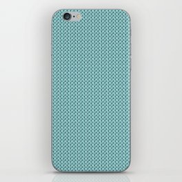 Knitted spring colors - Pantone Island Paradise iPhone Skin