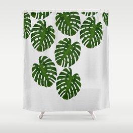 Monstera Leaf III Shower Curtain