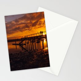 Pier on the beach of Zeluan Stationery Cards