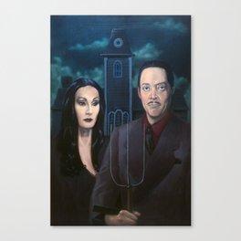 Addams Family Gothic Canvas Print