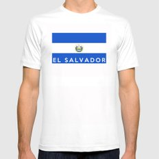 flag of el salvador MEDIUM Mens Fitted Tee White