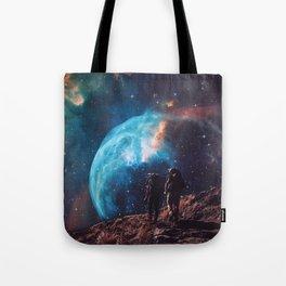 Hiking the universe Tote Bag