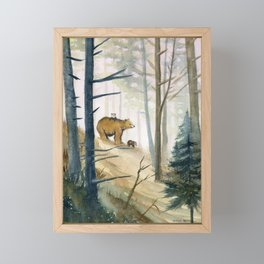 Bear Family 2 Framed Mini Art Print