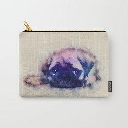 Pug puppy Sketch  Digital Art Carry-All Pouch