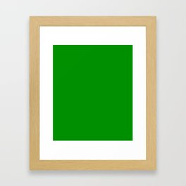 Islamic Green - solid color Framed Art Print