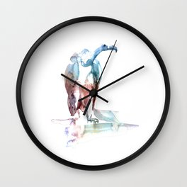 Eagle / Abstract animal portrait. Wall Clock