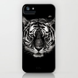 Dark Tiger Head iPhone Case