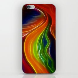 Rainbow Mountain on Fire iPhone Skin