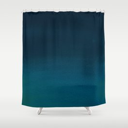 Navy blue teal hand painted watercolor paint ombre Shower Curtain