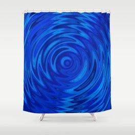 Water Moon Cobalt Swirl Shower Curtain
