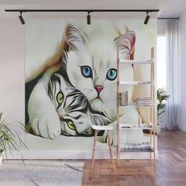 Be Quiet Kitten No Talking Wall Mural