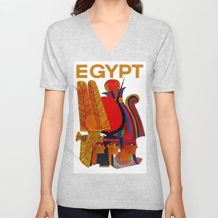 Vintage Egypt Headdress Travel Unisex V-Neck
