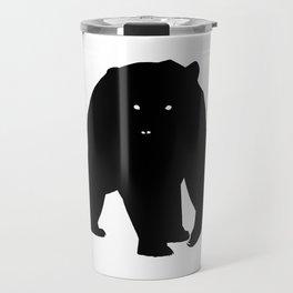 Bear Black Silhouette Pet Animal Cool Style Travel Mug