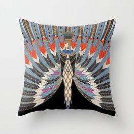 """Art Deco Egyptian Design """"The Nile"""" Throw Pillow"""