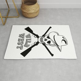 Skull and rifles Rug