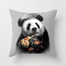 PANDA LOVES PIZZA Throw Pillow