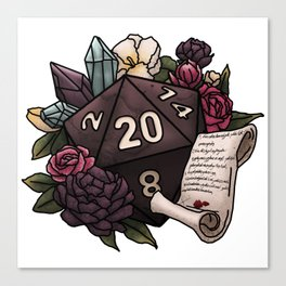 Warlock Class D20 - Tabletop Gaming Dice Canvas Print