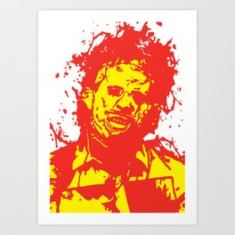 August 18, 1973: Bloodstain Leatherface (color combination G) Art Print