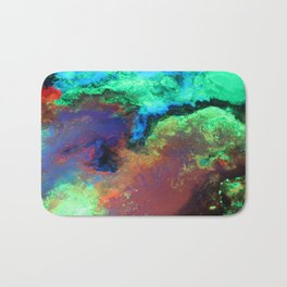 """Titan"" Mixed media on canvas, abstract art painting designs, contemporary artist colorful design Bath Mat"